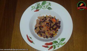 Insalata fresca fagioli rossi, tonno e habanero orange
