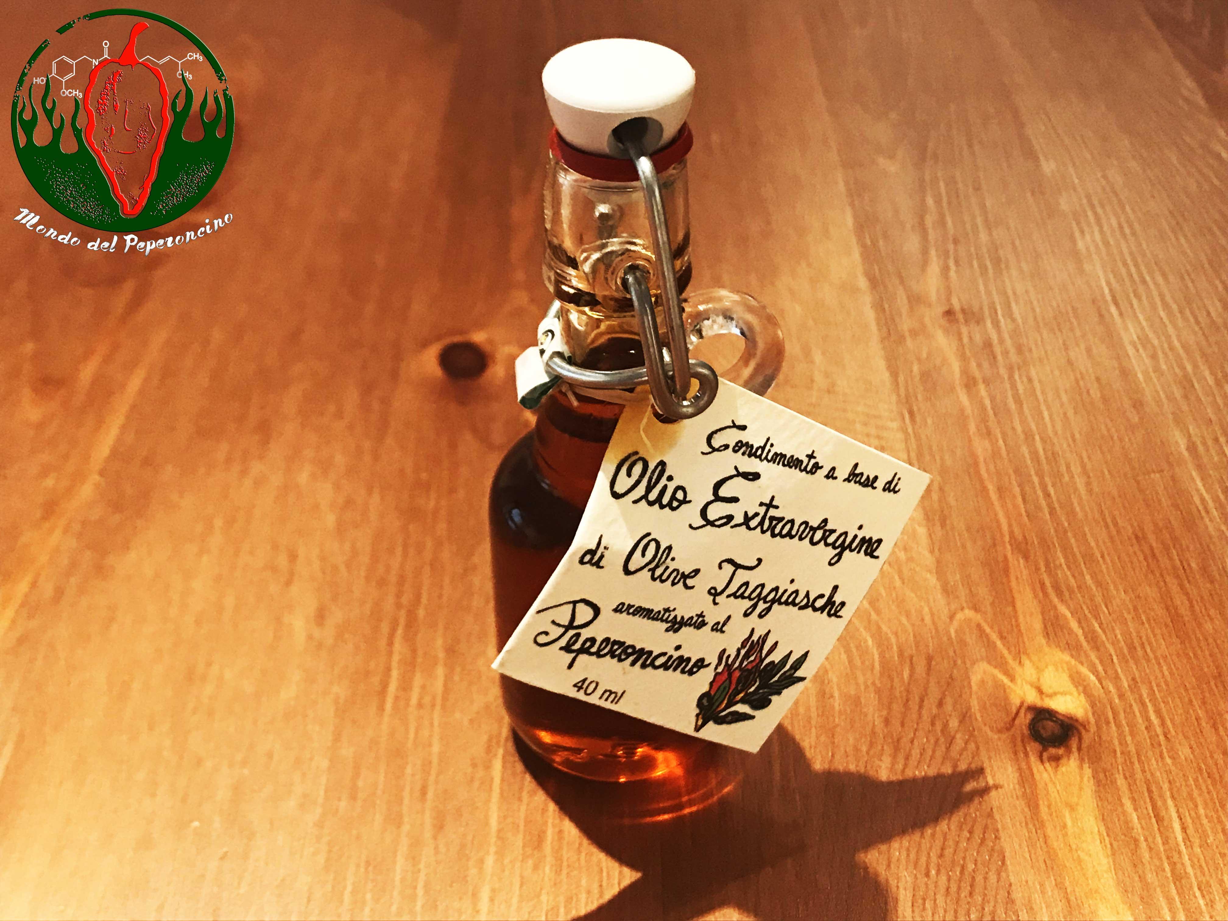 olio extravergine di olive taggiasche al peperoncino